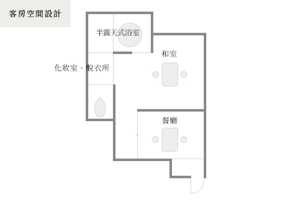 Guest suite layout 粋-Iki-